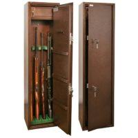 КО-033Т Оружейный сейф на 4 ружья с отделением под патроны
