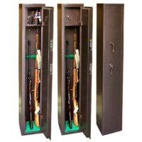 КО-036Т Оружейный сейф для оружия на 3 ружья с отделением под патроны