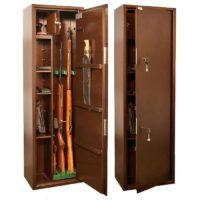 КО-038Т Оружейный сейф для оружия на 3 ружья с отделением под патроны