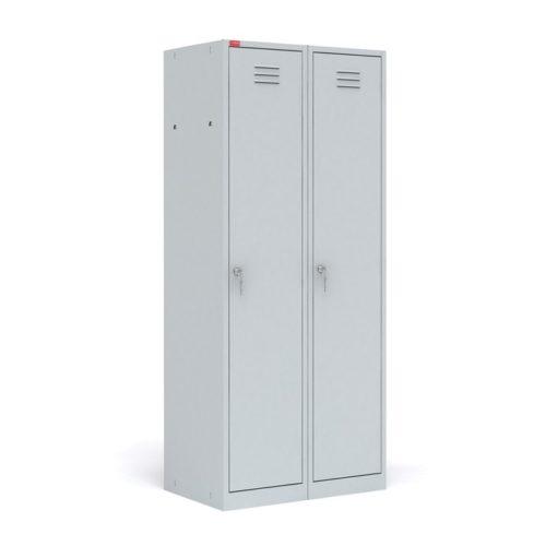 ШРМ-22-М Шкаф металлический разборный двухсекционный для одежды