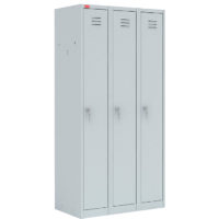 ШРМ-33 Шкаф разборный металлический трехсекционный для хранения одежды