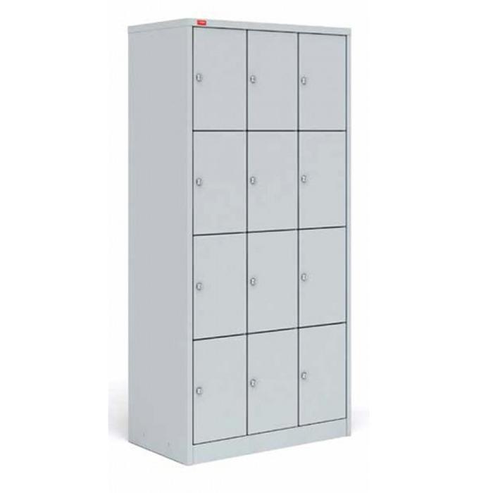ШРМ-312 Металлический шкаф для сумок трехсекционный с двенадцатью отделениями