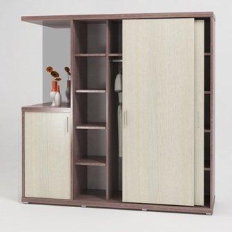 ГМ28 Сборный шкаф купэ с зеркалом (2130х600х2120)