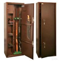 КО-032Т Оружейный сейф для оружия на 3 ствола с отделением под патроны